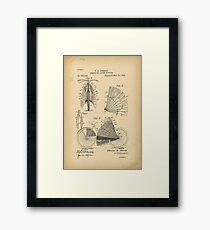 1896 Patent Bicycle - SCREEN FOR LADIES BICYCLES Framed Print