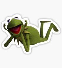Kermit Laying Down Meme Sticker