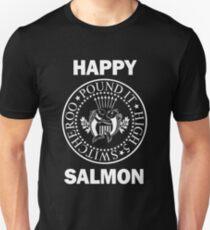 Happy Salmon Ramones Shirt Slim Fit T-Shirt
