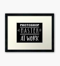 photoshop master at work Framed Print