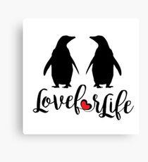 Penguins love Canvas Print