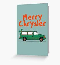 Merry Chrysler Greeting Card