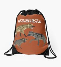 I Am Thankful For Hyaenidae Drawstring Bag