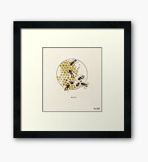 Apis - honey bee Framed Print