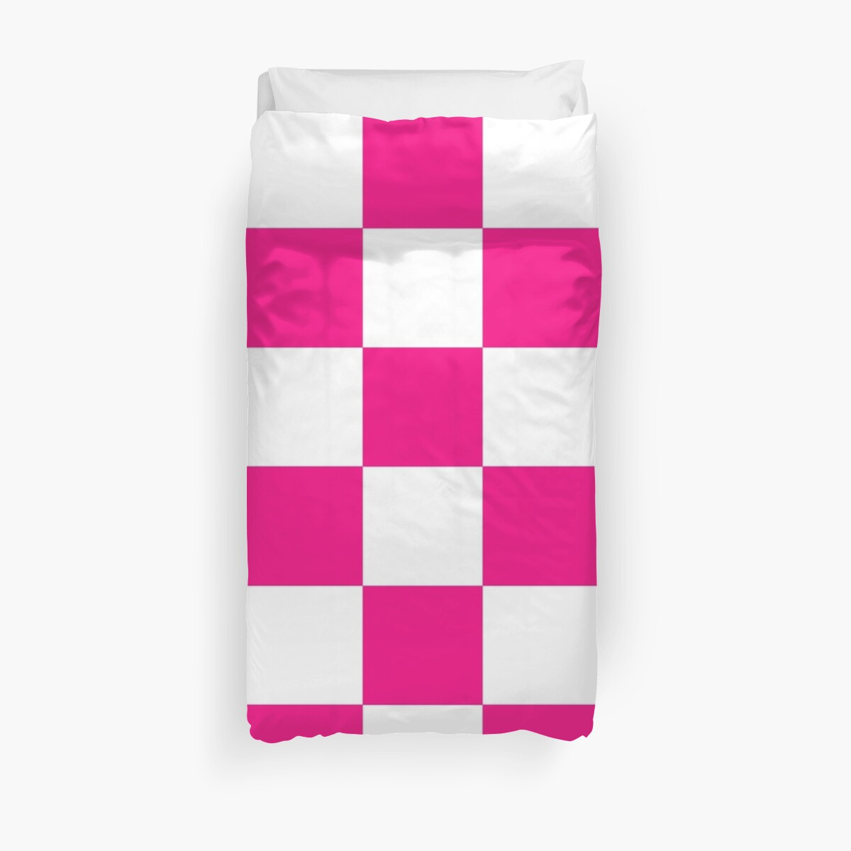 Pink And White Checkered Print by KCavender