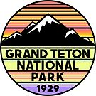 Grand Teton National Park Wyoming Mountains by MyHandmadeSigns