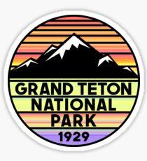 Grand Teton National Park Wyoming Mountains Sticker