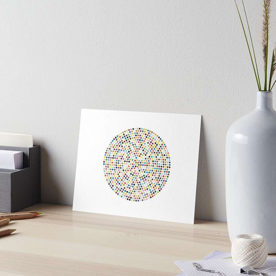 Damien Hirst Inspired Dot Explosion Art Board Print By Shophollyj Redbubble