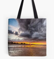 Black Gold Sunset Tote Bag