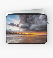 Black Gold Sunset Laptop Sleeve