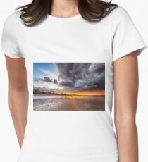 Black Gold Sunset Women's Fitted T-Shirt