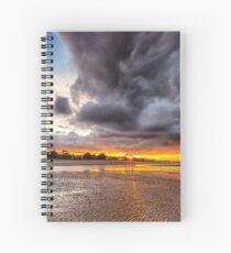 Black Gold Sunset Spiral Notebook