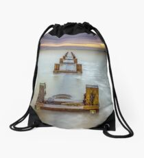 Seaview Outfall Isle Of Wight Drawstring Bag