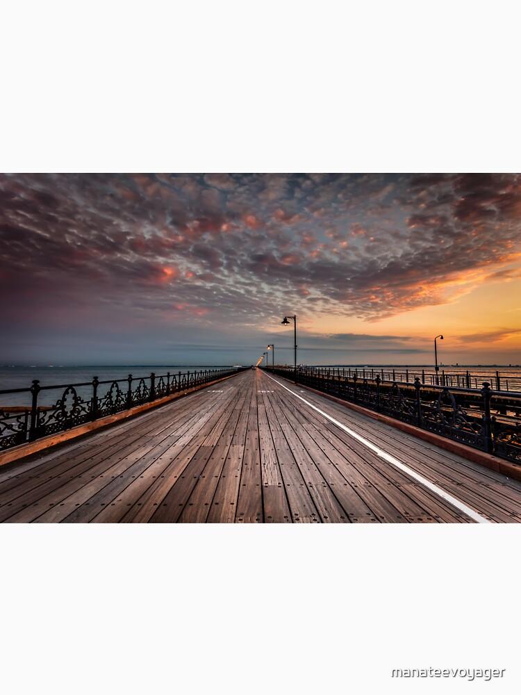 Sunrise On Ryde Pier by manateevoyager