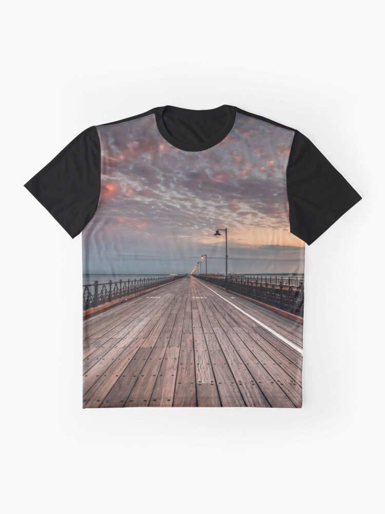 Alternate view of Sunrise On Ryde Pier Graphic T-Shirt