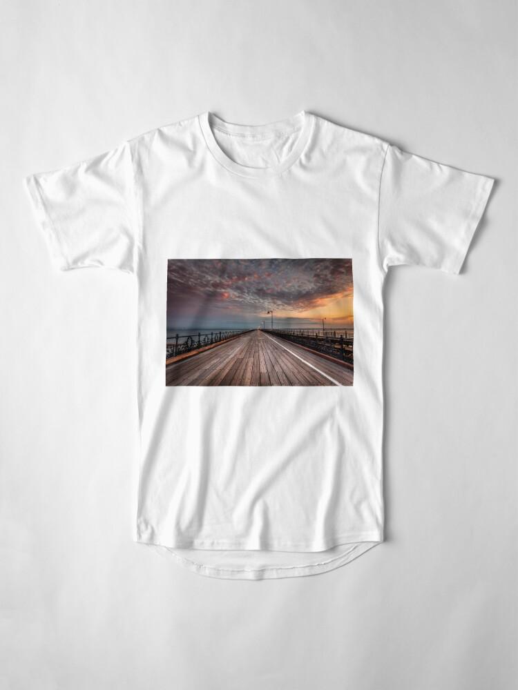 Alternate view of Sunrise On Ryde Pier Long T-Shirt
