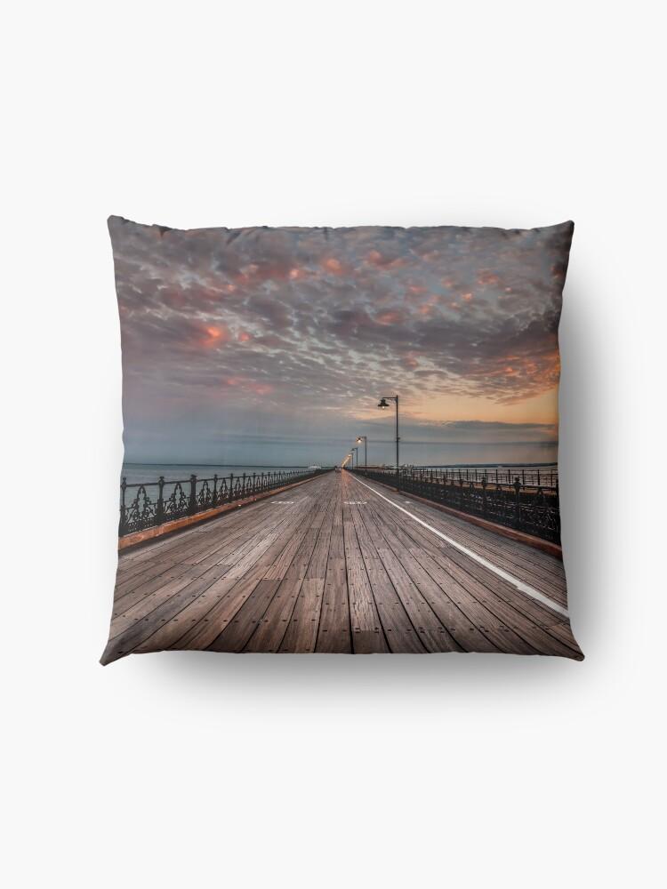 Alternate view of Sunrise On Ryde Pier Floor Pillow