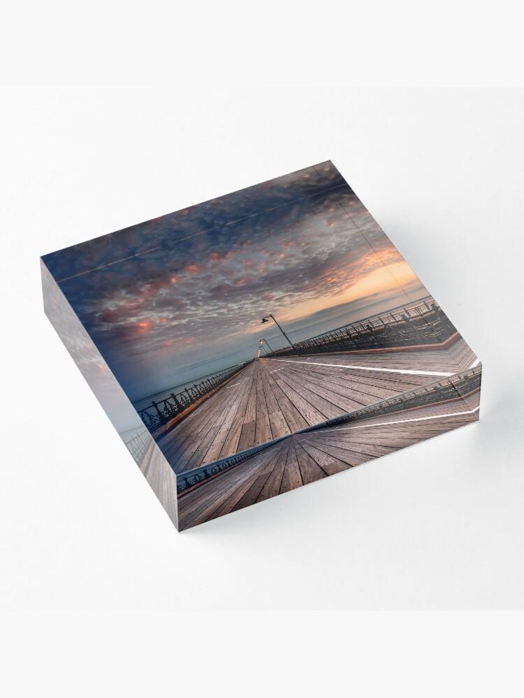 Alternate view of Sunrise On Ryde Pier Acrylic Block