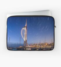 Spinnaker Tower With Star Trails Laptop Sleeve