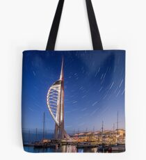 Spinnaker Tower With Star Trails Tote Bag