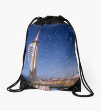 Spinnaker Tower With Star Trails Drawstring Bag