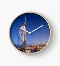 Spinnaker Tower With Star Trails Clock