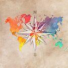 world map wind rose 1 #worldmap #map by JBJart
