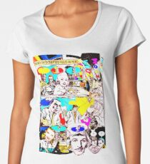 2 Futurist Artists Talking Art. Women's Premium T-Shirt