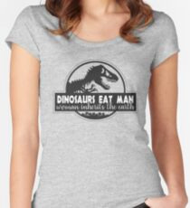 Dinosaurs Eat Man Women's Fitted Scoop T-Shirt
