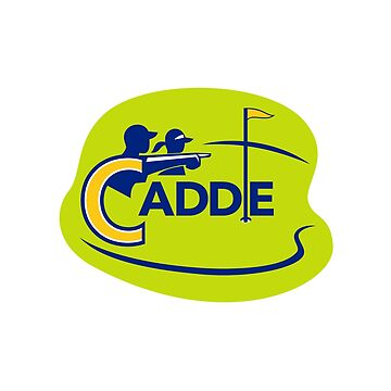 Caddie and Golfer Golf Course Icon by patrimonio