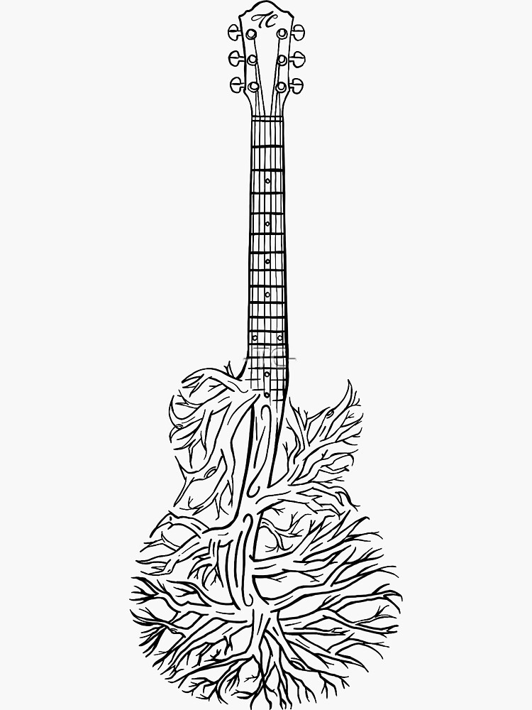 The Guitar Tree Sticker By Tc