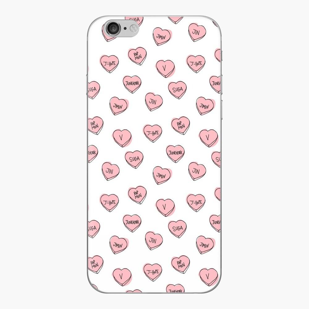 BTS corazones Vinilos y fundas para iPhone