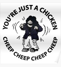 """""""You're just a Chicken - Cheep cheep"""" The Room Poster"""