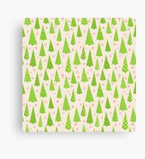 Christmas Trees Template Canvas Print