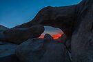 Joshua Tree Sunset Arch Rock by photosbyflood