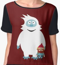 Abominable Snowman & Friend Chiffon Top