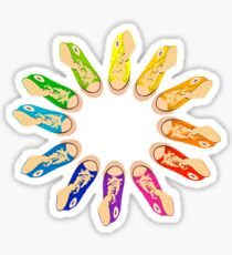 Hightop Colorwheel Sticker