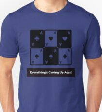 Asexual Asexualise Everything's Coming Up Aces! Asexual Ace Playing Cards Unisex T-Shirt