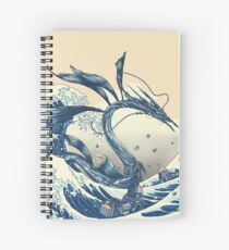 The Great Wave off Altissia Spiral Notebook