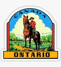 Ontario Canada vintage Mountie decal Sticker