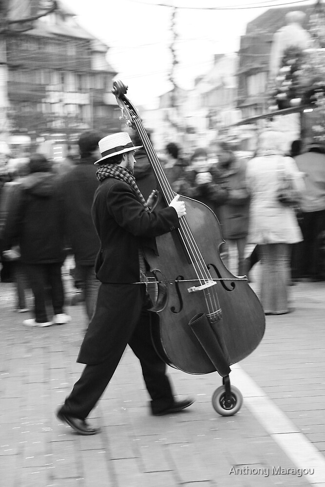 The running Cello by Anthony Maragou