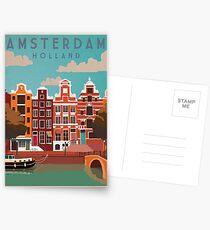 Amsterdam, Holland, Reiseplakat Postkarten