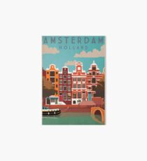 Amsterdam, Holland, Travel Poster Art Board