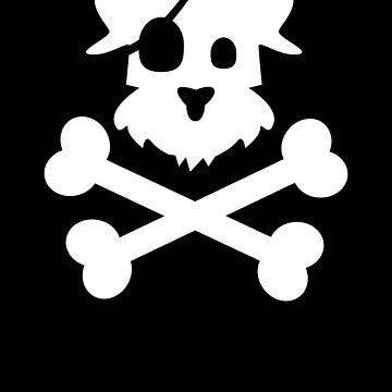 Pirate Pup - White by becktacular