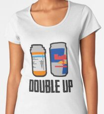 PUBG - Double Up ! - Painkiller and Energy Drink Women's Premium T-Shirt
