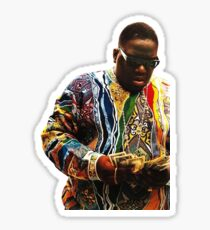 Biggie counting dollars Sticker
