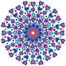 Crazy Love Mandala by Betty Mackey