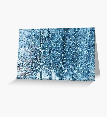 Snow Falling II Greeting Card