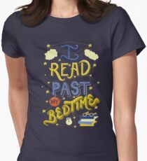I Read Past my Bedtime Women's Fitted T-Shirt
