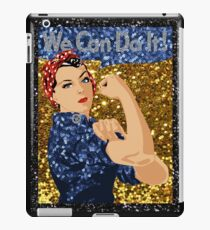 glitter rosie the riveter iPad Case/Skin